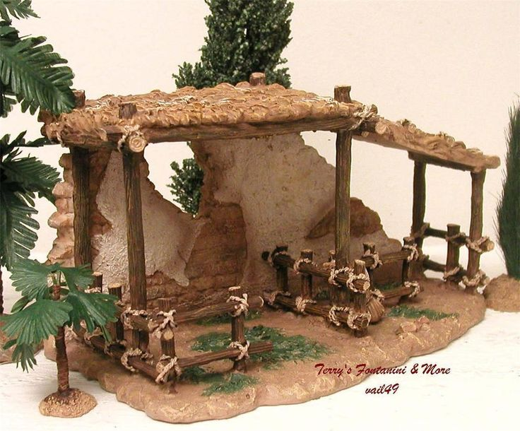 "FONTANINI ITALY 5"" ANIMAL CORRAL NATIVITY VILLAGE BLDG 55575 NIB #Fontanini"