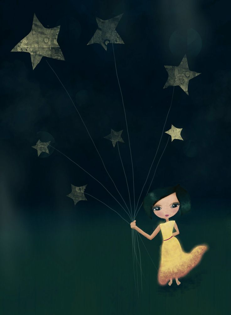 mixed media, @ Shea, this is digital but reminded me of your drk. blue and stars idea....