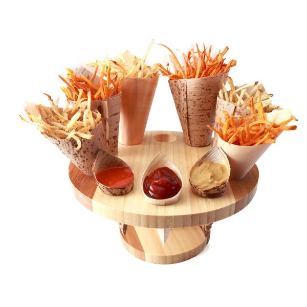 wood food stands - Google Search