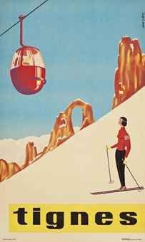 Tignes. Vintage ski poster