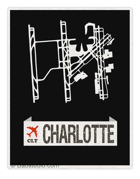 Fly me to Charlotte North Carolina CLT Douglas by PineShore