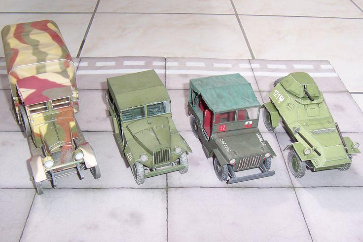 Ursus A , GAZ 67 B , Willys Jeep , BA 64