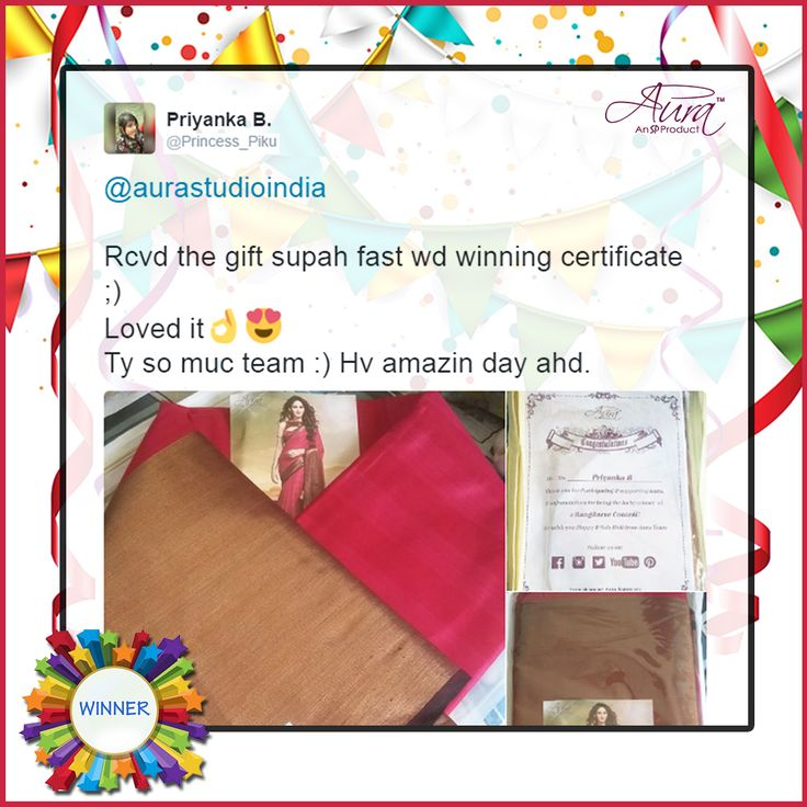 We received this amazing response from our lucky winner contestant of ‪#‎RangBarse‬ Contest on Twitter when she received our surprise gift  #RangBarse #ContestWinner #WinnerReview #Contestant #TwitterFollower