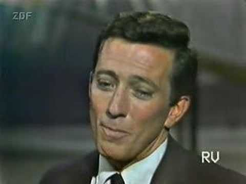 Andy Williams ~ Moon River ... I'm sure most people think of Audrey Hepburn singing this in Breakfast at Tiffany's (which I love), but I really love his voice!