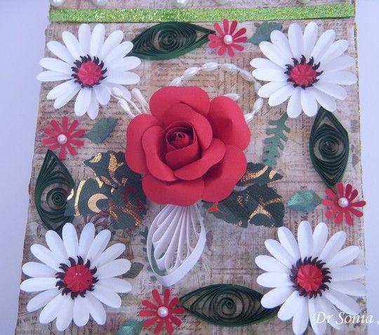 Карты, ремесла, Детские проекты: Бумага Цветок Tutorial- Punchcraft Rose
