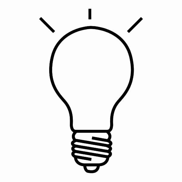 32 Light Bulb Coloring Page In 2020 Light Bulb Drawing Light