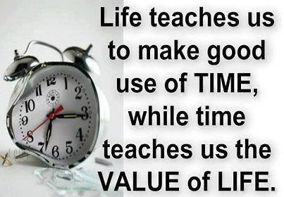 essay on value of time in life