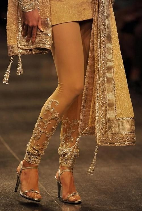 Lace churidar by Neeta Lulla