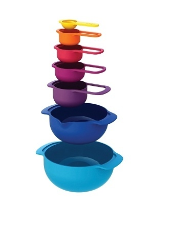 Nesting Set - 5 measuring cups and 2 mixing bowls that fit together and save space. derrik1