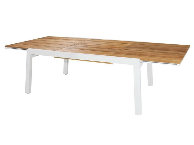 Tavolo allungabile da giardino in alluminio e legno BAIA | Tavolo Allungabile 170 cm Collezione Baia by MAMAGREEN | design Vincent Cantaert, Barbara Widiningtias