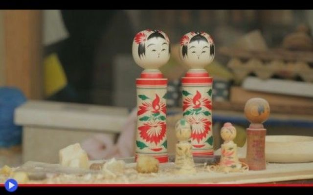 Le kokeshi, bambole totemiche dei giapponesi #arte #scultura #giappone #giocattoli