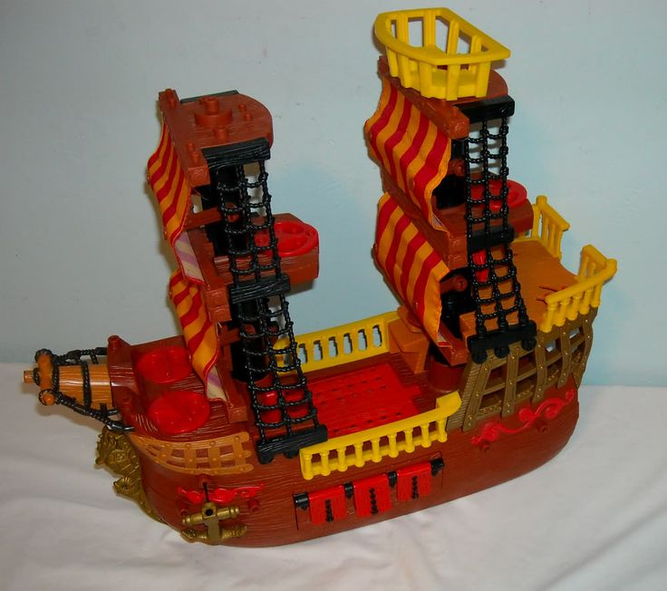 imaginext+pirate+ship | Details about FISHER PRICE IMAGINEXT PIRATE SHIP & GHOST RAIDER SET