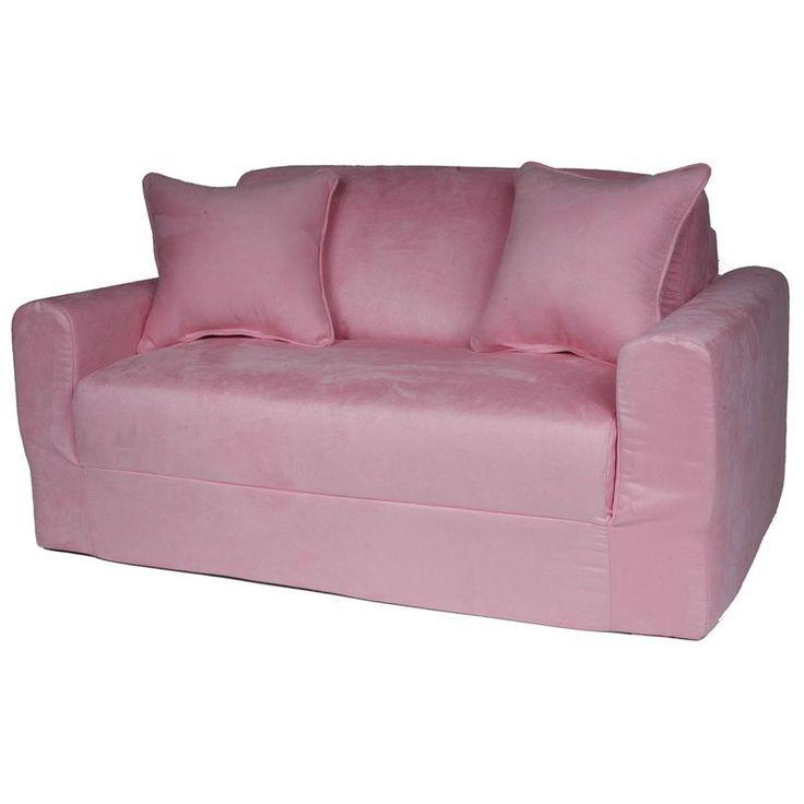 Fun Furnishings Micro Suede Sofa Sleeper Pink - 10230