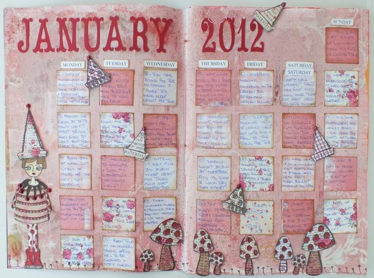 Art Journal Calendar Pages : Best art journal calendar images on pinterest