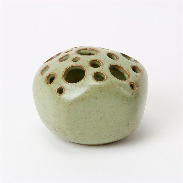 Vintage Studio Pottery Vase By Ellen Currans Hand Glazed