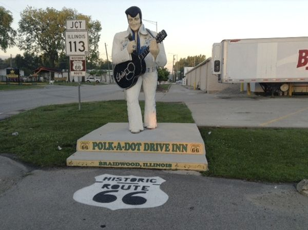 Riding Route 66: An Elvis sighting near the end