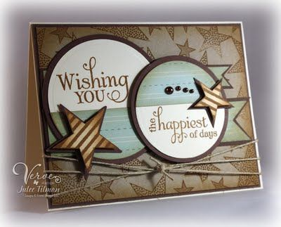 me thinks a verve card for sure.: Craft, Cards Stars, Cards Birthday, Birthday Cards, Greeting Cards, Card Ideas, Star Cards, Birthday Stars