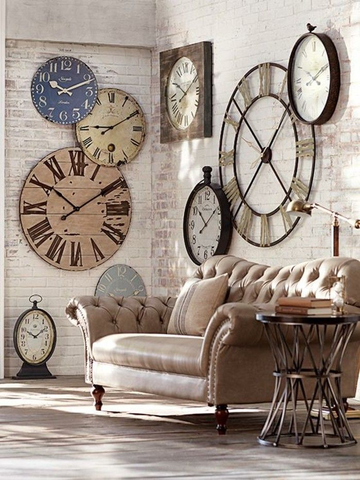 1000 id es sur le th me horloges murales d 39 poque sur pinterest horloge - Decoration murale geante ...