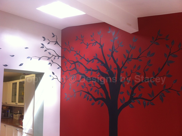 Family tree, wall art, mural, handpainted http://designsbystacey.com