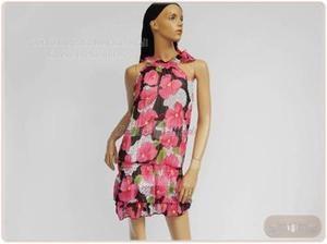 Miniabito da donna estivo plissettato 930 fuxia taglia UNICA abiti vestito