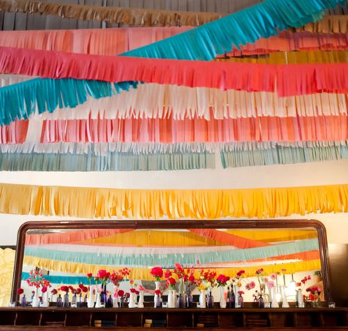 cute garlandPaper Garlands, Fringes Garlands, Crepes Paper, Summer Parties, May 5, Parties Ideas, Fringes Streamers, Crepe Paper, Parties Decor