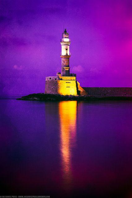 Lighthouse at Chania, Crete, Greece