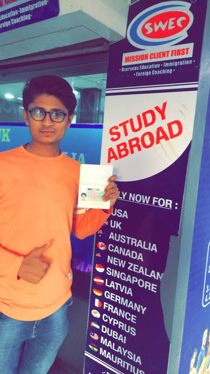 Congratulations Jigar Kanani !! #Visa Success in #Poland. We wish you a happy and Safe Journey for your future career.. For any query you can contact us. From SWEC Education & Immigration Services