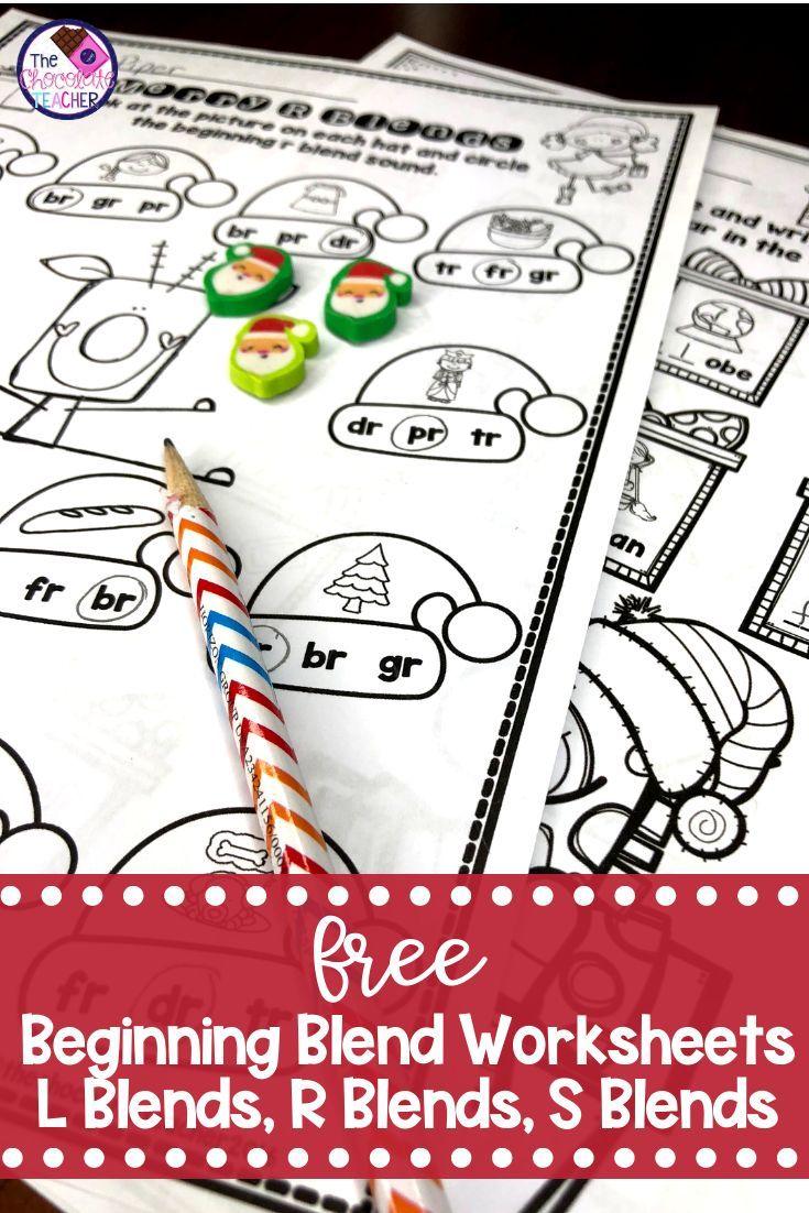Beginning Consonant Blends Worksheets Christmas Themed Free Blends Worksheets Consonant Blends Worksheets Blends Activities [ 1102 x 735 Pixel ]