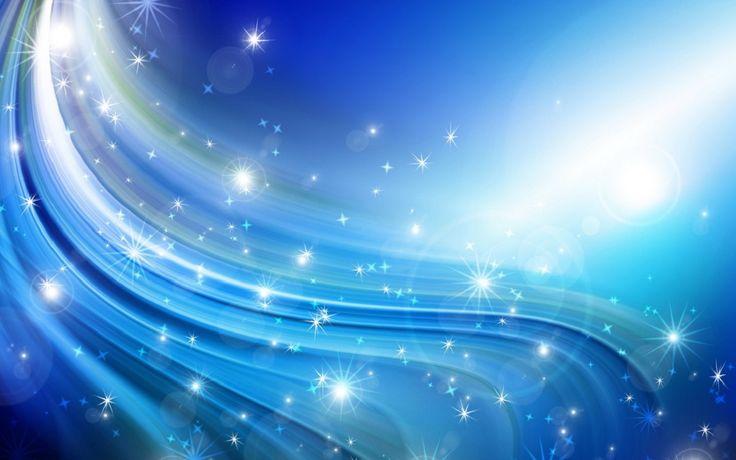 Efektif Çizgiler ve Yıldızlar Mavi Abstract Duvar Kağıdı