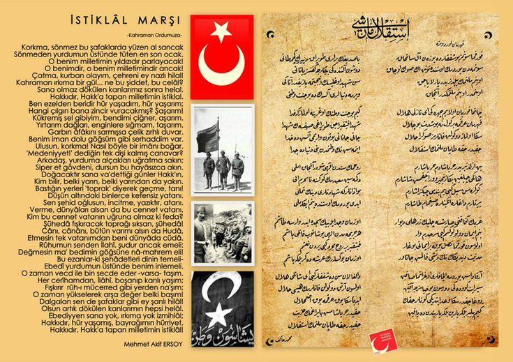 """#korkma diye başlayan """"İstiklal Marşımızın"""" Yazarı merhum Mehmet Akif Ersoy'u rahmetle anıyorum.Mekânı Cennet Olsun."""