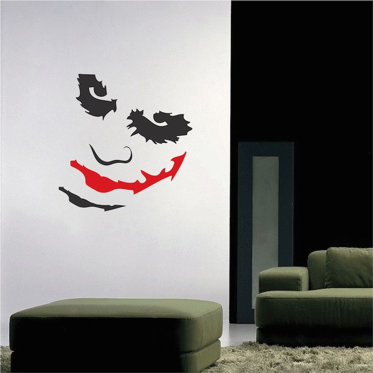 joker decal sticker mural wall art designswall - Wall Art Design Decals