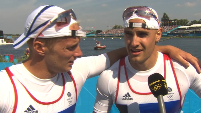 Britain's Liam Heath and Jon Schofield won bronze in the men's kayak K2 200m final