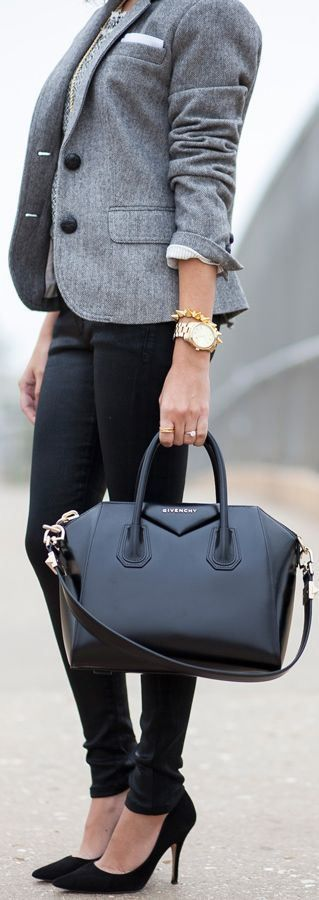 Real Women Try the Trend: Business Chic – Fashion Style Magazine - Page 10 Couldn't get away with jeans in the office, but maybe slim black trousers