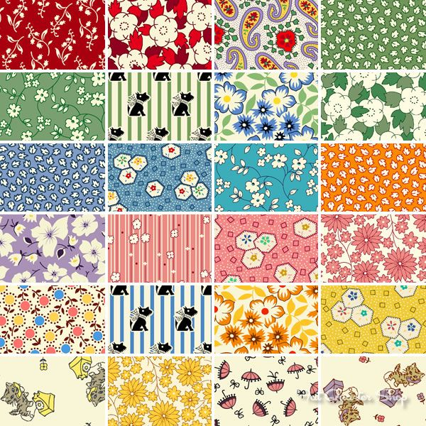 Grace in a Pickle by Judie Rothermel for @Marcus Fabrics! Charming 1930s prints!