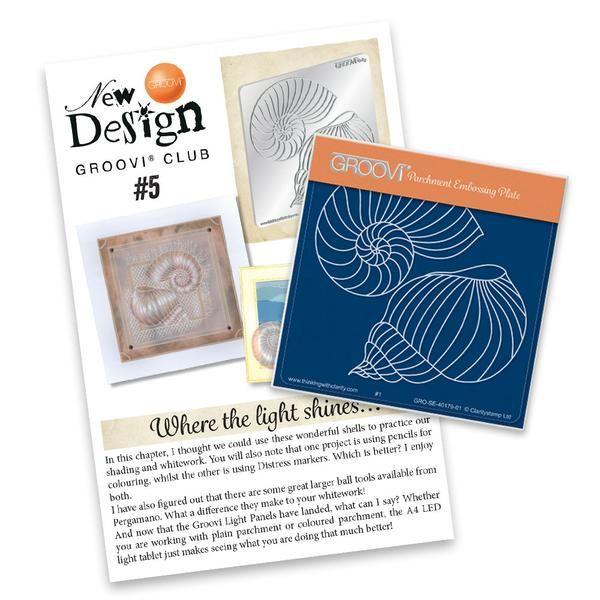 New Design Groovi® Club Back Issue 05 - Shells – Claritystamp