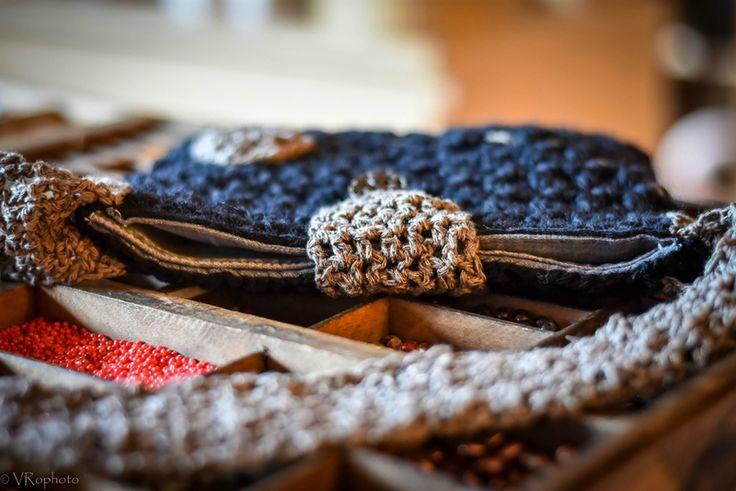 Pochette crocheté noir