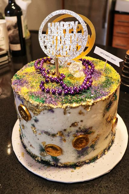 Mardi Gras Themed Birthday Party Cake From Cream New Orleans Click Or Visit FabEveryday For Details Plus More Ideas And Inspiration A