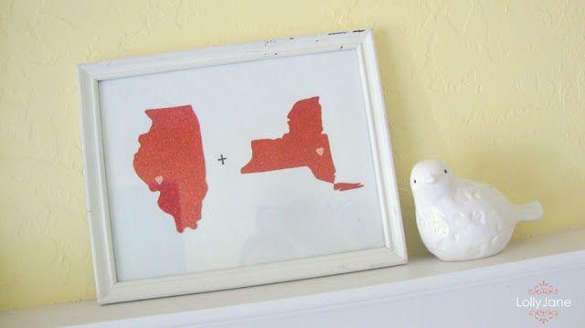 I need Kansas and NC!!: Crafts Ideas, Decor Ideas, Gifts Ideas, Cute Ideas, Glitter Scrapbook, State Art, Diy States Art, Valentines States, U.S. States