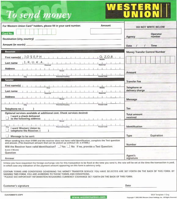 Fake Money Order Template Awesome Western Union Form Kelly Misa Send Money Fake Money Western Union