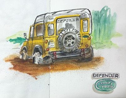 """Check out new work on my @Behance portfolio: """"Land Rover Defender"""" http://be.net/gallery/43182395/Land-Rover-Defender"""