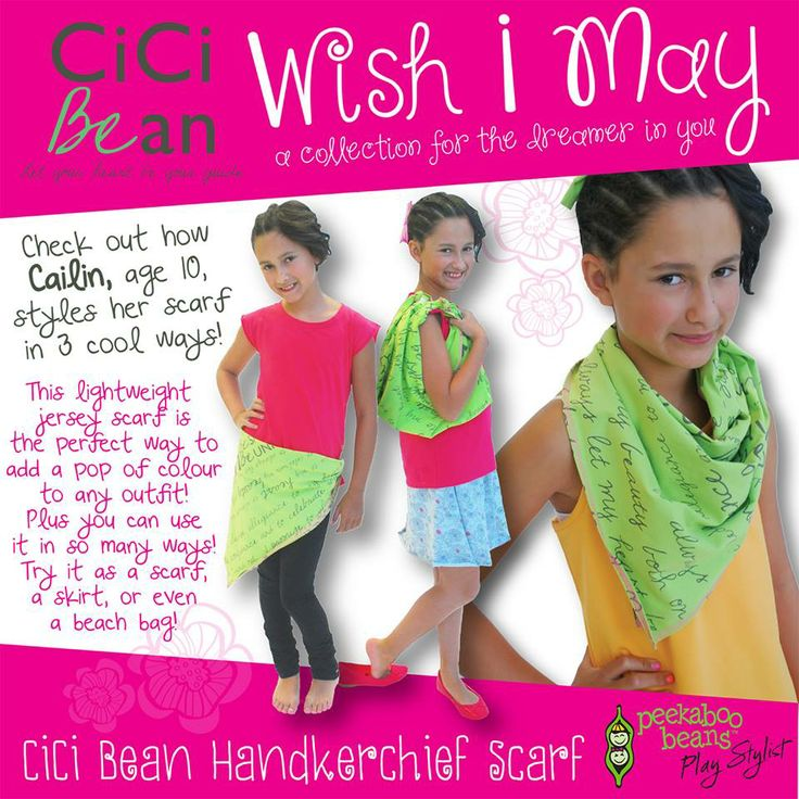 CiCi Handkerchief Scarf | CiCi Bean - clothing for tween girls. | Contact your local Play Stylist or shop online at www.peekaboobeans.com