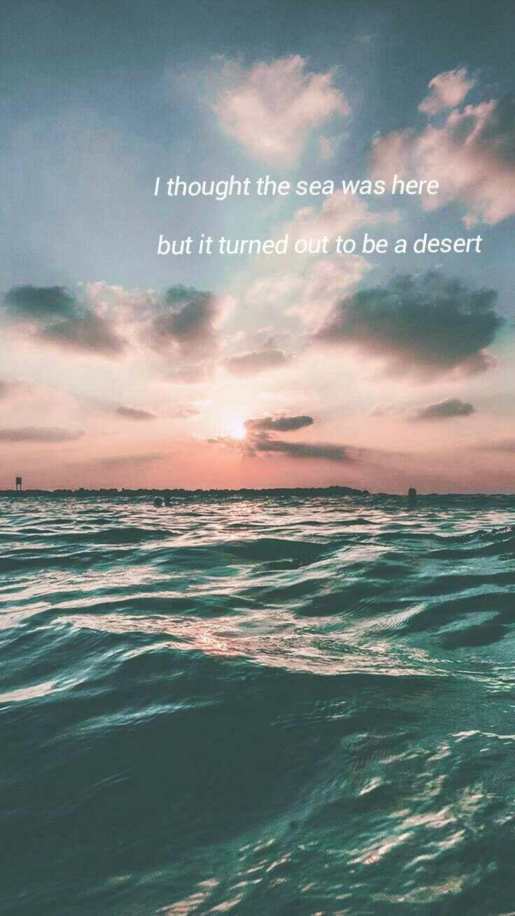 Bts Sea Lyrics Wallpaper Love Yourself Bts Lyric