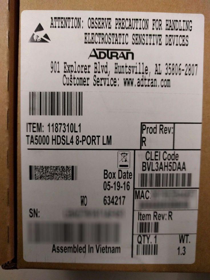 ADTRAN 1187310L1 TA5000 HDSL4 8-PORT LM BVL3AH5DAA (We also buy ADTRAN!)