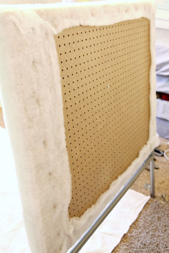 use pegboard to make a tufted headboard easily. I don't think drilling some holes for the tufts is that difficult, but I'll price it out to see if this is worth it.