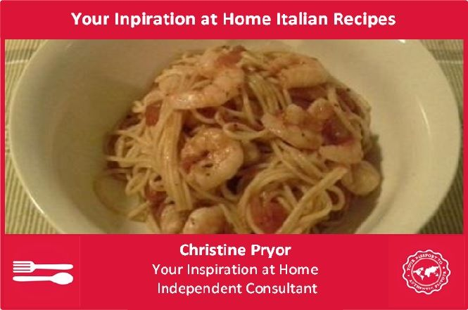 I love Italian! These recipes are quick, easy and delicious. They use the gourmet range of products from Your Inspiration at Home. For more information on the whole range, visit my Facebook page - www.facebook.com/ChristinePryorYIAH