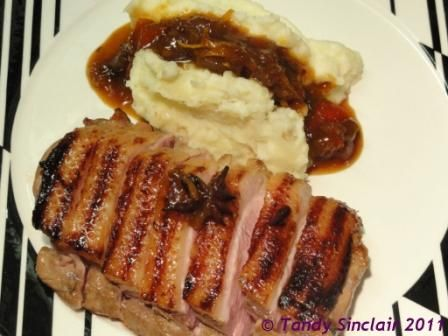 Orange Marinated Duck Breasts