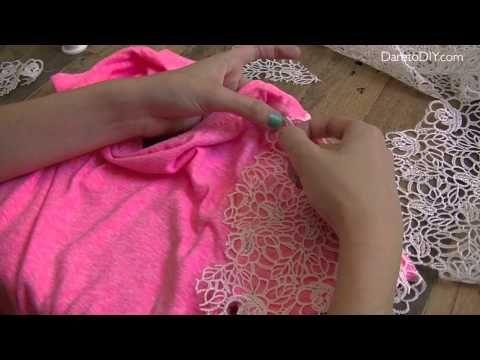 ▶ 5 ideas para customizar una camiseta: #1 Cambia las mangas - YouTube