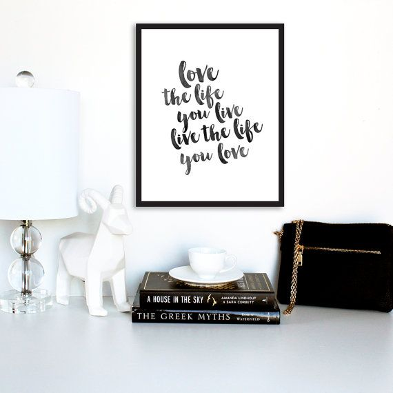 Wall Art Love The Life Bob Marley Quote Quote by TheDesignHouzz