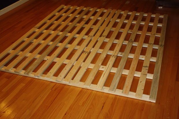 Best How To Make A Cheap Low Profile Wooden Bed Frame Wooden 640 x 480