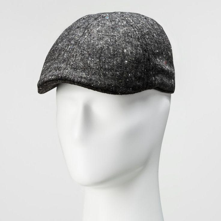 Men's Tweed 6 Panel Ivy Driving Cap - Goodfellow & Co Black M/L, Black Gray